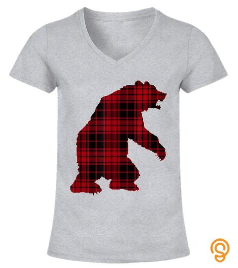 Bigfoot Christmas Shirt Buffalo Plaid T Shirt