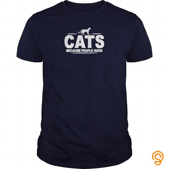 Innovative CATS BECAUSE PEOPLE SUCK  Mens TShirtZXKGVKE T Shirts Clothing Company
