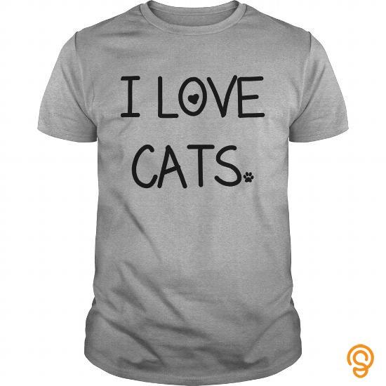 Soft I love Cats Kids Shirts  Kids TShirt Tee Shirts Saying Ideas