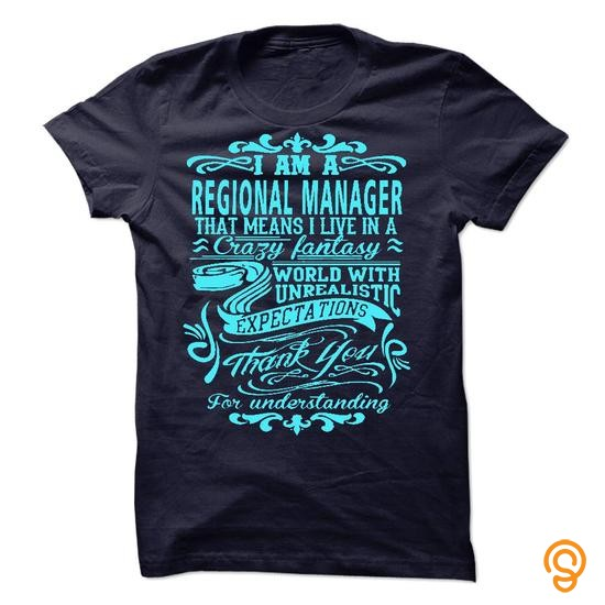Comfy I am a Regional Manager Tee Shirts Buy Now