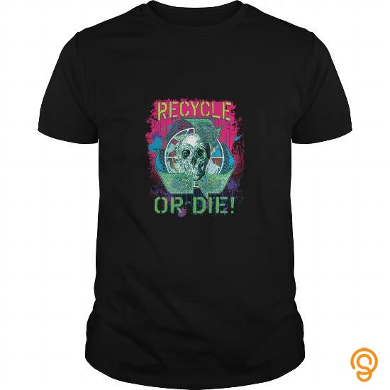 affordable-recycle-or-die-earth-day-skull-tee-shirts-apparel