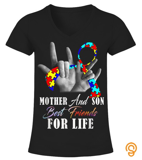 Autism Awareness Shirt Mother And Son Best Friends For Life T Shirt