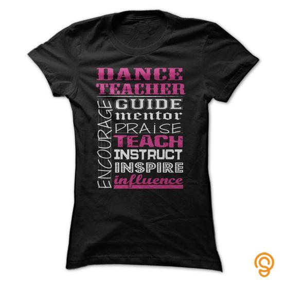 Plush Awesome Dance Teacher Shirt T Shirts Gift