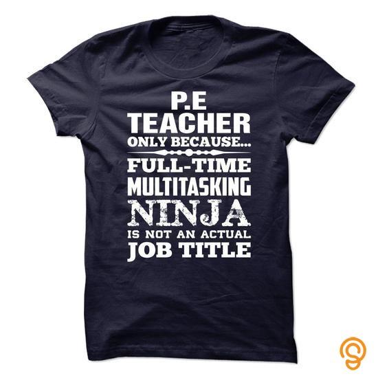 Dapper Proud Be A P.E TEACHER T Shirts Graphic