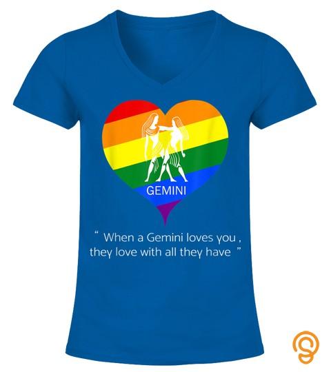 Gemini Lgbt Valentine's Day T Shirt