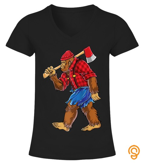Shirts Funny Bigfoot Lumberjack Funny Woodworking Gifts Sasquatch Raglan Baseball Tee