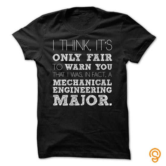 Sale-priced Awesome Mechanical Engineering Major Shirt T Shirts Apparel