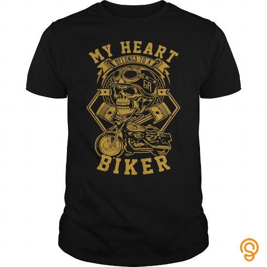 active-my-heart-belongs-to-a-biker-tee-shirts-for-sale