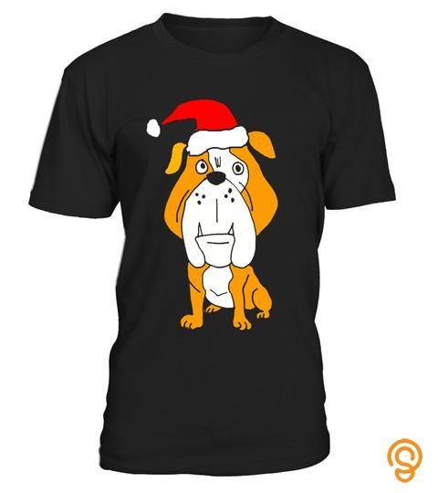 Smileteesxmas Funny English Bulldog Christmas T Shirt