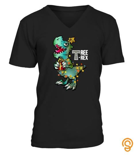 Tree Rex Shirt Dinosaur Christmas Tshirt   Hoodie   Mug (Full Size And Color)