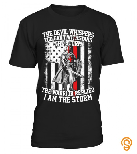 I Am The Storm Warrior Usa Devil T Shirt