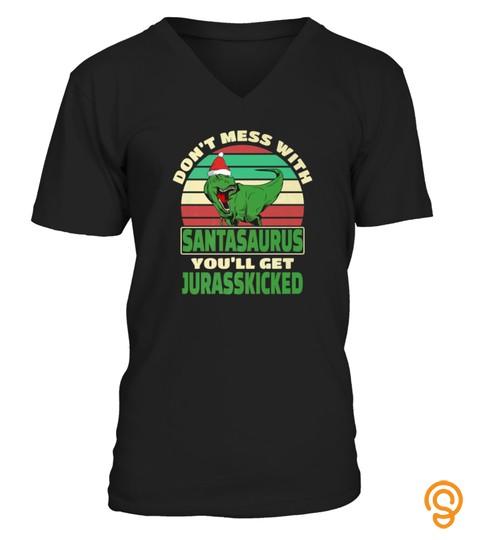 Christmas Dinosaur Santa Tshirt Santasaurus Santa T Rex Tshirt   Hoodie   Mug (Full Size And Color)