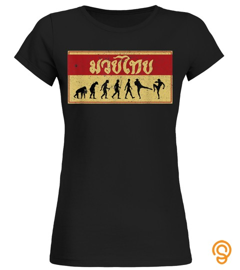 Muay Thai Fighter Funny Evolution Mma Gift T Shirt