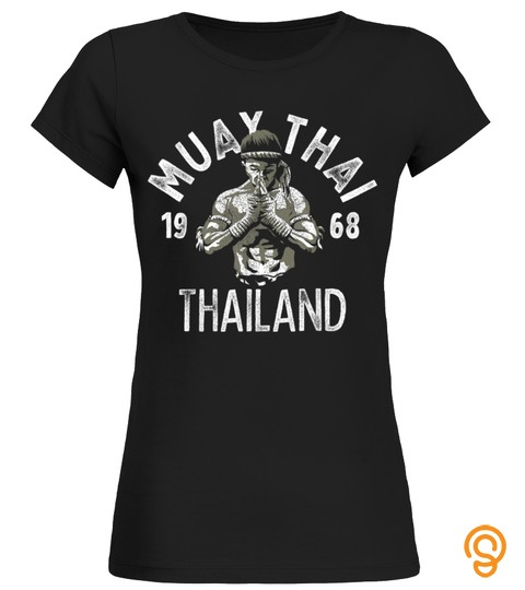 Muay Thai Thailand Vintage Tiger Fighter Training Gift T Shirt