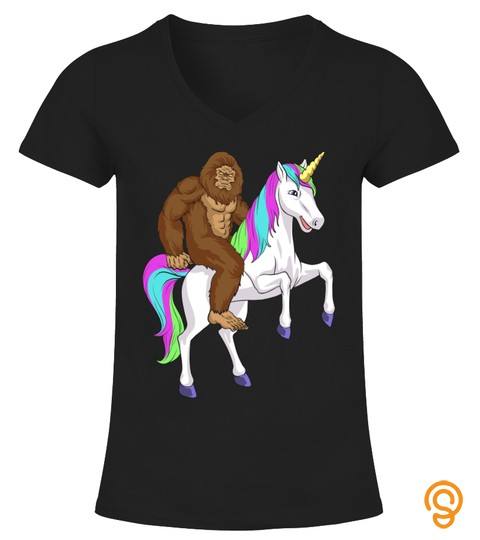 Bigfoot Sasquatch Riding Unicorn  Funny Bigfoot Tshirt   Hoodie   Mug (Full Size And Color)