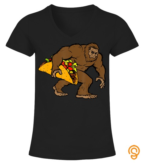 Bigfoot Taco Funny Sasquatch Cinco De Mayo Costume T Shirt