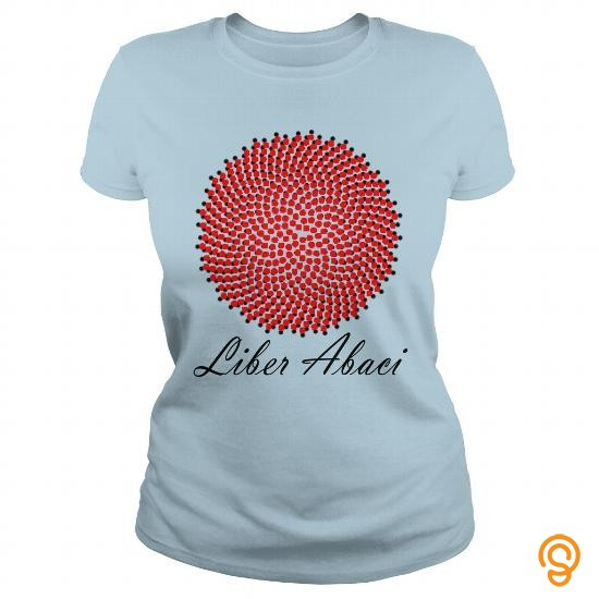 Mens Womens LIBER ABACI TWO TONE red  black T Shirts Sayings Men