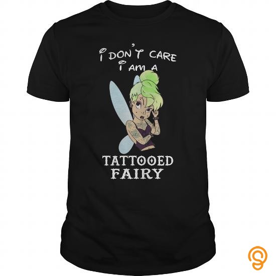 comfortable-i-dont-care-i-am-a-tattooed-fairy-tee-shirts-buy-now
