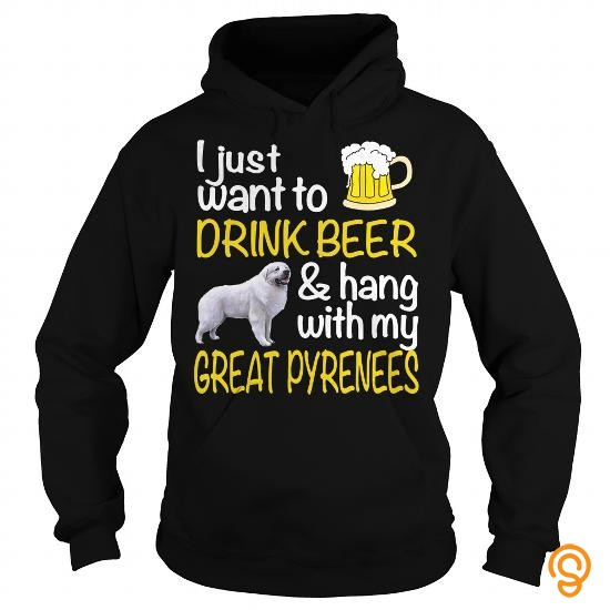 glamour-drink-beer-with-my-great-pyrenees-t-shirts-buy-online