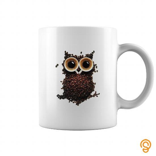 hot-coffee-owl-t-shirts-sale