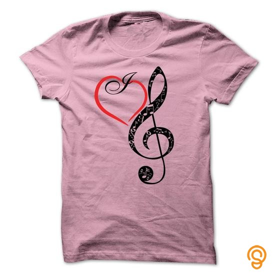 Funky I Love Music T Shirts Size Xxl