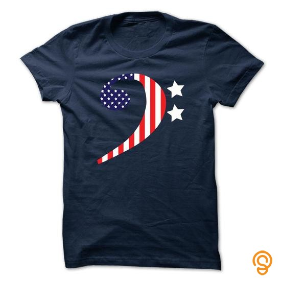 Fabric AMERICAN BASS CLEF Tee Shirts Saying Ideas
