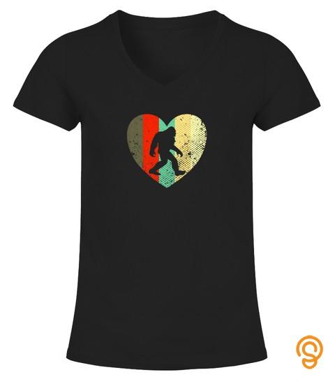 Womens I Love Bigfoot Funny Shirt Cute Tshirt   Hoodie   Mug (Full Size And Color)