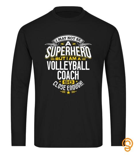 Volleyball Coach Tshirt Gift Idea Superhero Volleyball Shirt