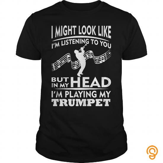 model-playing-trumpet-in-my-head-tee-shirts-buy-online