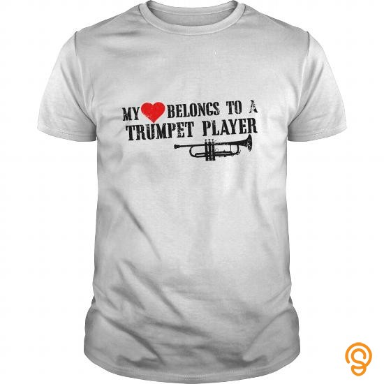 Cheery  My Love Belongs To A Trumpet Player Tee Shirts Wholesale