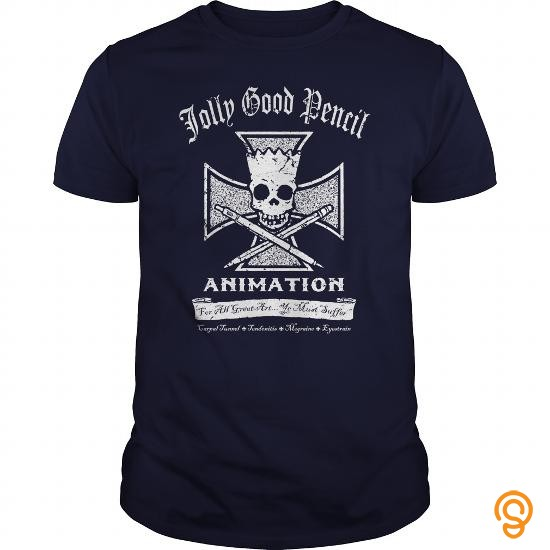 Fitted Jolly Good Pencil Animation T Shirts For Adults
