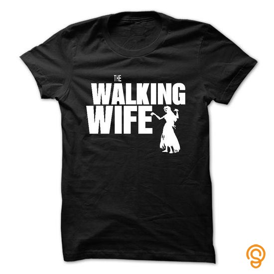 Colorful The walking wife Tee Shirts Sayings
