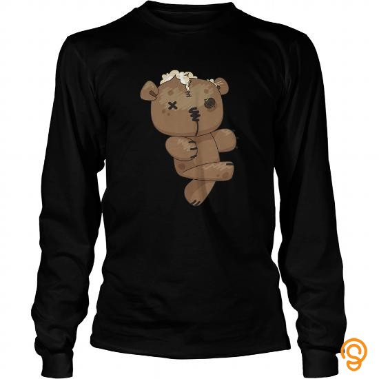 Funky twd fans   Zombie Teddy Bear copy Tee Shirts Clothing Brand