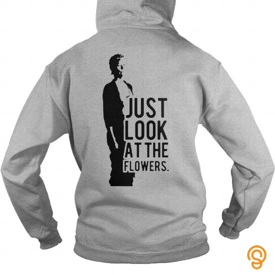 funny-just-look-at-the-flowers-twd-t-shirts-for-sale
