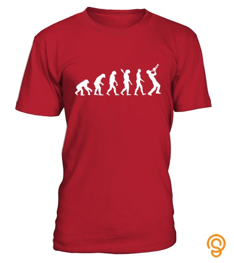 Evolution Trumpet Player T Shirt