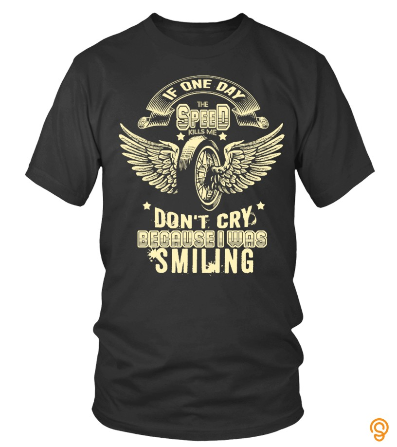 Standard-fit Dont cry because i was smiling Tee Shirts Material
